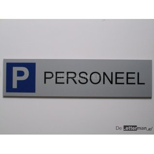Parkeerbord Personeel wandmodel