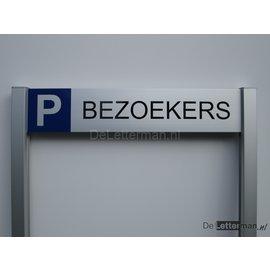 Parkeerbord Bezoekers Budgetframe