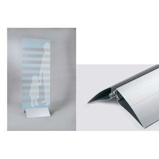 Displayvoet 50 cm klemvoet voor plaatmateriaal