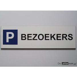 Parkeerbord Bezoekers Wit