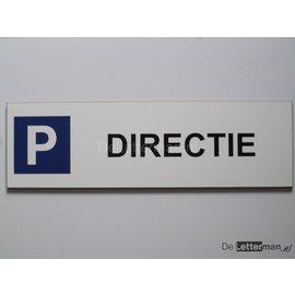 Parkeerbord Directie Wit