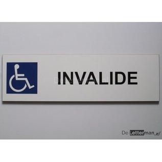 Parkeerbord Invalide Wit