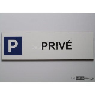 Parkeerbord Prive Wit