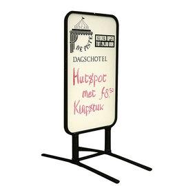 Stoepbord beschrijfbaar voor stift