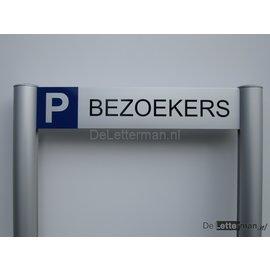 Parkeerbord Bezoekers luxe frame