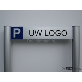 Parkeerbord Logo luxe frame