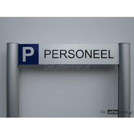 Parkeerbord Personeel luxe frame