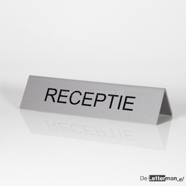 Huismerk RECEPTIE bordje tafelmodel 5x21 cm