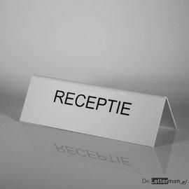 RECEPTIE tekstbordje tafelmodel 10x30 cm