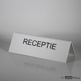 Tekstbordje RECEPTIE tafelmodel 10x30 cm