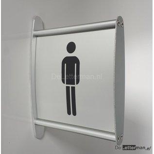 Toiletbordje Heren haaks op de muur profiel P