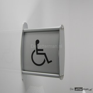 Toiletbordje Invaliden haaks op de muur profiel P