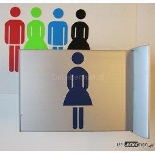 Toiletbordje Dames haaks op de muur
