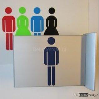 Toiletbordje Heren haaks op de muur