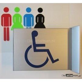 Toiletbordje invalide haaks op de muur