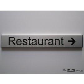 Restaurant bordje met richtingpijl