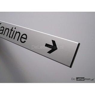 Geen toegang bordje met richtingpijl.