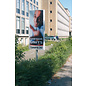 Reclamezuil met 1 paal 69x220 cm met full colour print