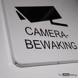 Camerabewaking metaalbord