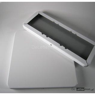 Metaal tekstbord 30x30 cm.