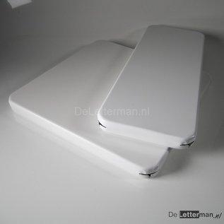 Metaal tekstbord 40x40 cm.