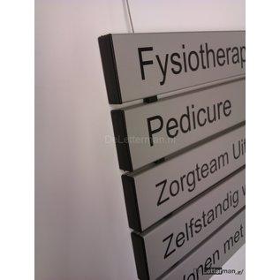 Hangbord met tekst paneel 6.2x40 cm