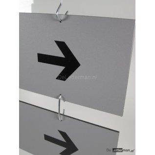 Hangbord Bezoekers / Toiletten Budgetserie 2 panelen