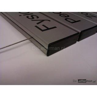 Hangbord Systeem U 1 paneel en tekst Large 50 cm.