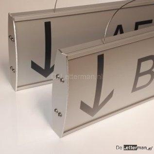 Hangbord luxe iX 40 cm met tekst