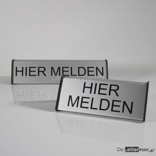 Baliebord Hier Melden 6.2x15 cm