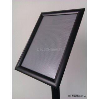 Zwarte standaard voor A3 print