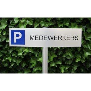 Parkeerbord Medewerkers op paal