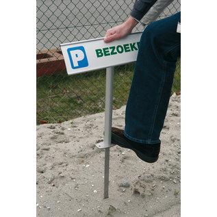 Parkeerbord Visitors aluminium profiel
