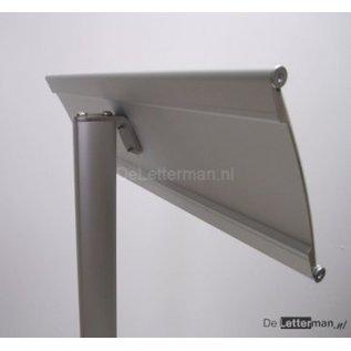 Parkeerbord met logo XL aluminium profiel hoger model 13.4x50 cm paneel