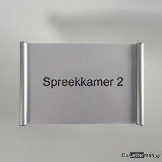 Deurbordje aluminium 13.4x15 cm voor eigen print