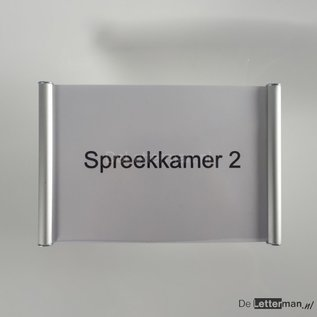 Deurbordje aluminium 16.4x10.5 cm A6 voor eigen print