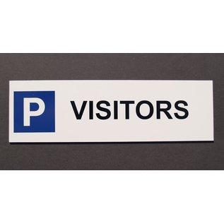 Parkeerbord Visitors Wit