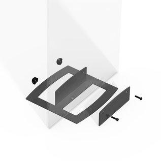 Displayvoet Quickbase metalen standaard voor plaatmateriaal