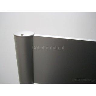 Reclamebord met 2 panelen10x50 cm paneel aluline