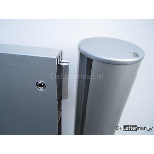 Reclamebord met 2 panelen10x50 cm frame paneel