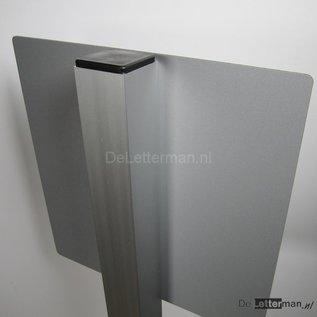 Paaltje Aluminium koker 100 cm losse staander voor parkeerbord.