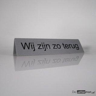 Baliebordje met Uw eigen tekst tafelmodel 5x21 cm