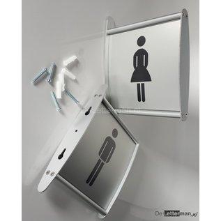 Toiletbordje Dames haaks op de muur profiel P