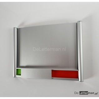 Vrij en bezetbordje 16,4 x 12 cm  nieuw model