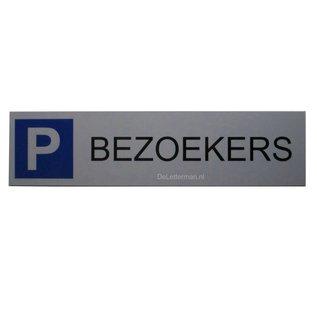 Parkeerbord Bezoekers wandbord