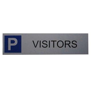 Parkeerbord Visitors wandbord