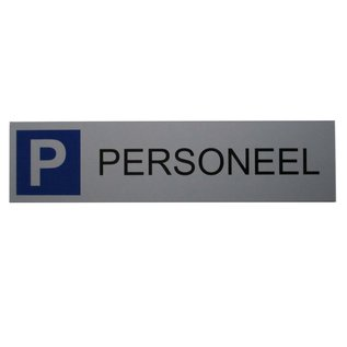 Parkeerbord Personeel wandbord