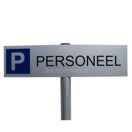 Parkeerbord Personeel op paal