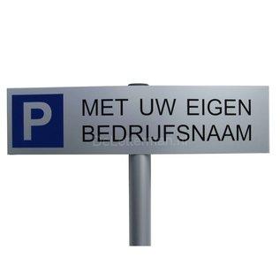 Parkeerbord Bedrijfsnaam op paal