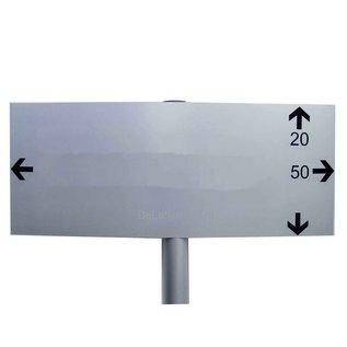 Parkeerbord op paal Large Blanco voor eigen bestickering